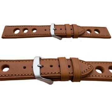 Grand Prix Tan Calf Leather Watch Strap